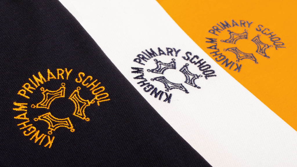 Kingham Primary School uniform logos