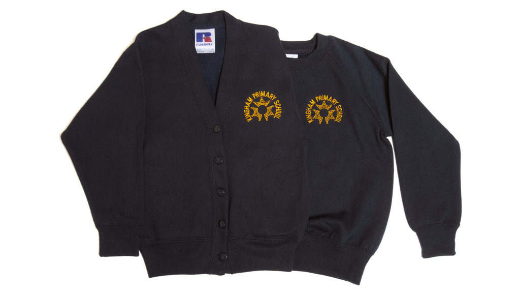 Kingham Primary School cardigan and sweatshirt