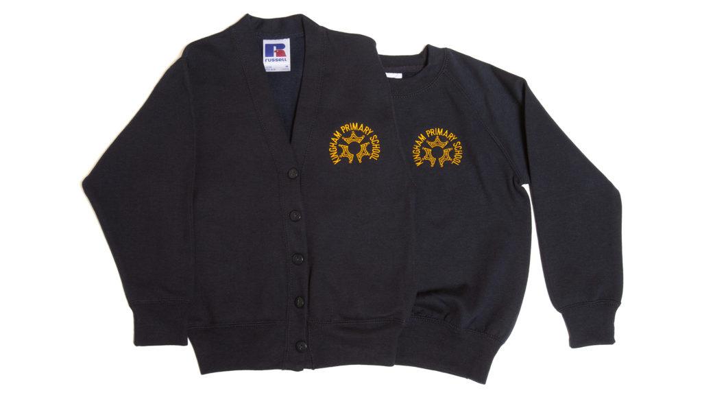 Kingham Primary School cardigan and sweatshirt