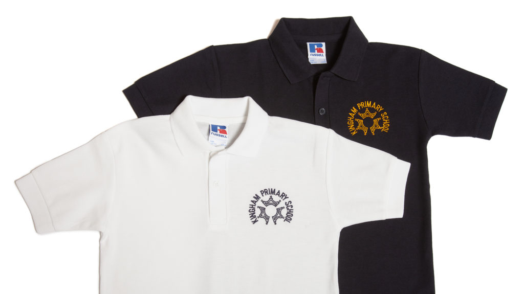 Kingham Primary School polo shirts
