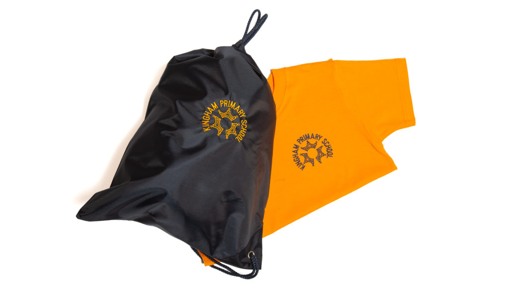 Kingham Primary School PE bag and T-shirt