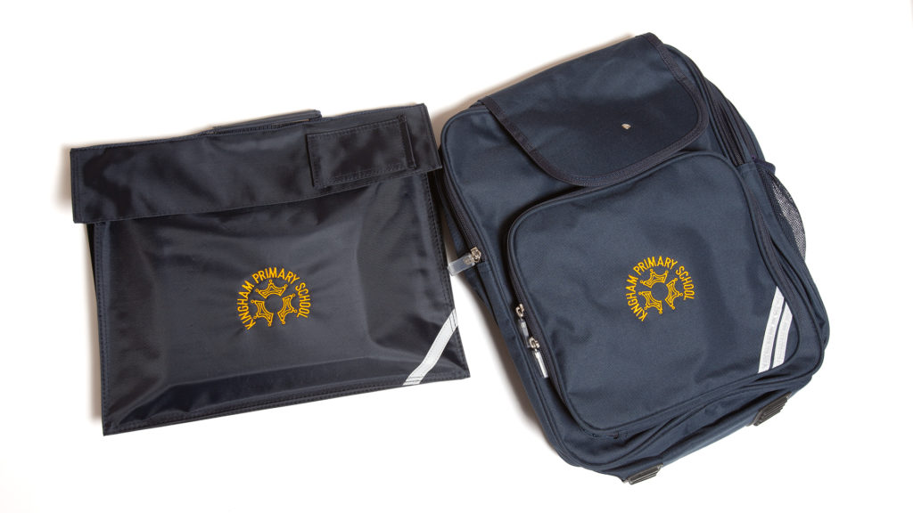 Kingham Primary School book bag and back pack