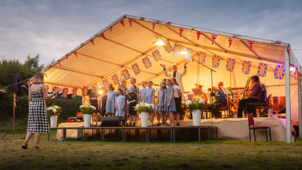 Proms, Picnic and Fireworks at Kingham Primary School.